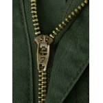 Plus Size Zipper Fly Pockets Embellished Cargo Pants for sale