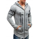 Zip Up Hoodie with Zipper Letter Embellishment deal