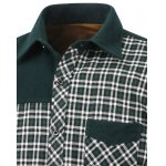 Color Block Checked Pocket Spliced Turn-Down Collar Fleece Shirt deal
