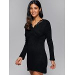 Ribbed Lace Insert Short Jumper Dress deal