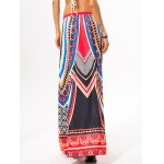 Drawstring Ethnic Style Geometric Skirt for sale
