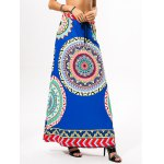 cheap Drawstring Ethnic Style Plate Skirt