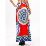 Drawstring Ethnic Style Plate Skirt for sale