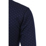 Polka Dot and Flower Print Turn-Down Collar Fleece Shirt deal