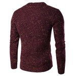 cheap Crew Neck Colorful Kink Design Long Sleeve Sweater