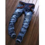 cheap Skinny Mid Waisted Zip Fly Moto Jeans