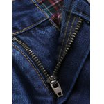 Zip Fly Beam Feet Moto Jeans for sale