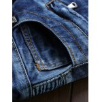 Skinny Mid Waisted Zip Fly Moto Jeans photo