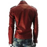 cheap Stand Collar PU-Leather Zipper Epaulet Long Sleeve Jacket For Men