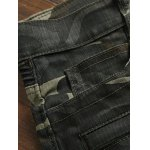 Zippered Multi-Pocket Ribbed Insert Camo Jeans deal