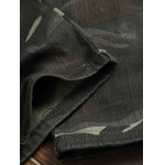 Zippered Multi-Pocket Ribbed Insert Camo Jeans photo