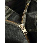 Zippered Multi-Pocket Ribbed Insert Camo Jeans for sale