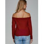 Off The Shoulder Textured Knitwear for sale