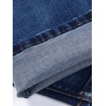best Narrow Feet Zipper Fly Scratched Jeans