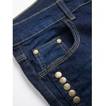 Zipper Fly Narrow Feet Stud Embellished Jeans for sale