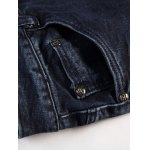 Zip Fly Applique Design Distressed Jeans for sale