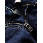 Patch Design Zipper Fly Frayed Scrape Jeans for sale