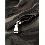 Zipper Fly Camouflage Moto Pockets Design Jeans for sale