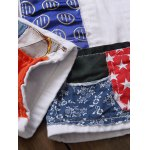 Zipper Fly Sequined Embroidered Patchwork Jeans photo