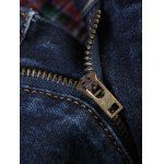 Stud Embellished Zipper Fly Patchwork Ripped Jeans for sale