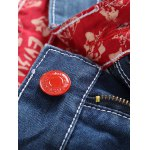 Zipper Fly Holes Design Printed Lining Jeans deal