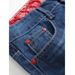 cheap Zipper Fly Holes Design Printed Lining Jeans
