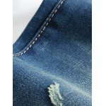 best Zipper Fly Distressed Printed Lining Jeans