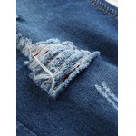 best Zipper Fly Distressed Straight Leg Jeans