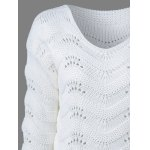Ribbed Openwork Sweater for sale