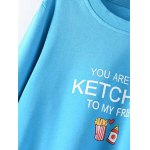 cheap Plus Size  Ketchup Letter Sweatshirt