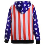 cheap Stars Stripe Flag Loose Hoodie