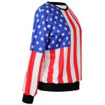 cheap The Stars Stripes Flag Loose Hoodie