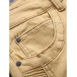 Zip Up Khaki Moto Jeans deal