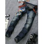 cheap Zip Fly Animal Embroidery Jeans