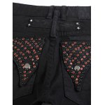Beading Embellished Pocket Zip Fly Jeans deal