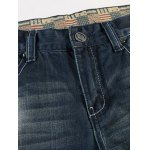 Flag Badge Distressed Jeans deal