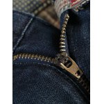 cheap Flag Badge Distressed Jeans