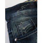 Flag Badge Distressed Jeans for sale