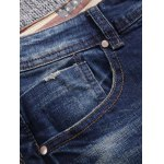 cheap Zip Fly Ripped Jeans