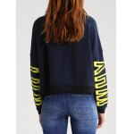 cheap Letter Graphic Sweatshirt