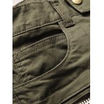 Zip Embellished Beam Feet Moto Jeans deal