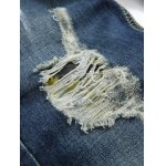 best Zipper Fly Colorful Paint Design Distressed Jeans
