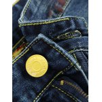 Zipper Fly Colorful Paint Design Distressed Jeans deal