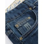 cheap Zipper Fly Holes and Appliques Patch Design Jeans