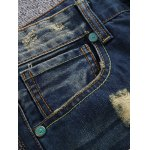 cheap Zipper Fly Holes and Appliques Design Jeans