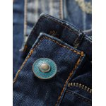 Zipper Fly Holes and Appliques Design Jeans deal