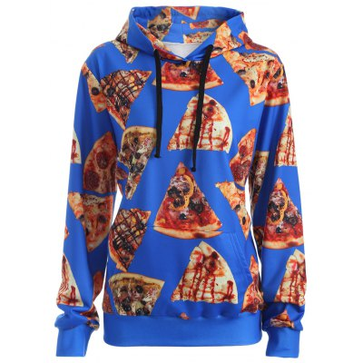 Pullover Pizza 3D Print Hoodie