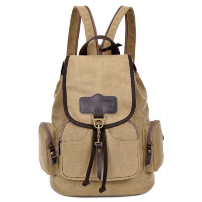 Drawstring Zippers Backpack