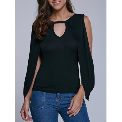 Cape Sleeve Cut Out Blouse