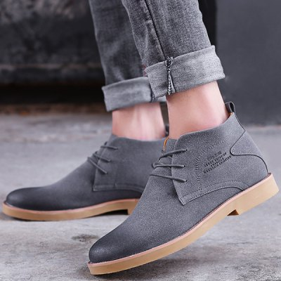 Pointed Toe Lace Up Casual Shoes